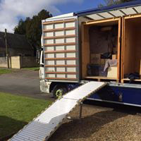 Unloading Storage Container From Truck